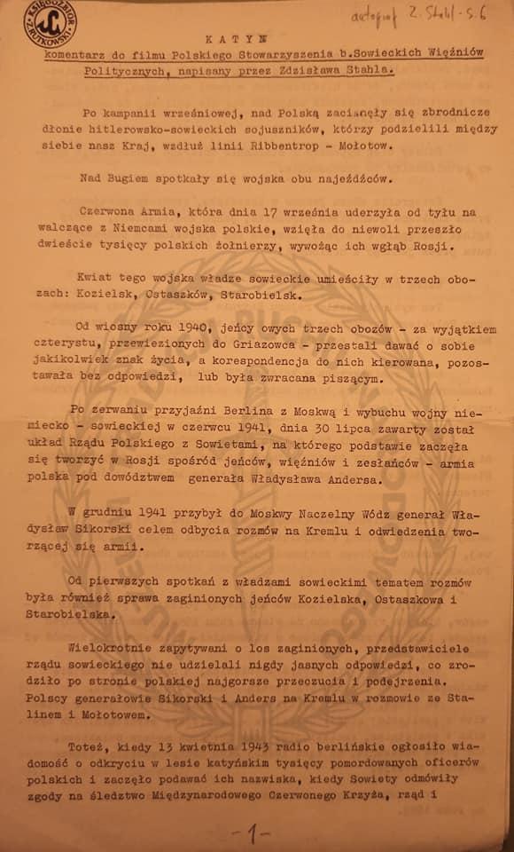 Kartka z kalendarza 2 w Muzeum Tradycji Ruchu Narodowego